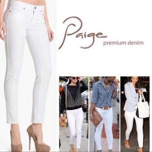 Paige Peg Skinny Jeans. Made in USA